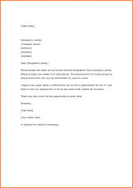 One Weeks Notice Letter Resignation Letter One Week Notice Template Business Letter Format
