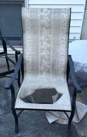 chair outdoor fabric sling replacements in mi waterproof upholstery uk carter patio