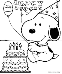 Small Picture Snoopy Birthday Coloring Pages Snoopy party Pinterest Snoopy