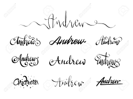 Free Name Designs For Tattoos Personal Name Andrew Vector Handwritten Calligraphy Tattoo Design