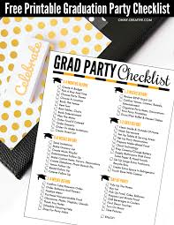 Free Printable Graduation Party Checklist - Oh My Creative