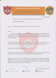The Government Confirmation Letter For Futins World Cup 2016 In