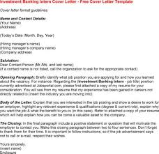 Cover Letter Examples Investment Banki On Investment Banking
