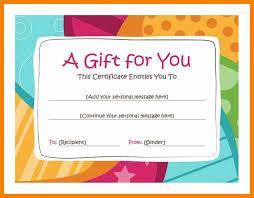Homemade Gift Certificate Ideas Creative Advice