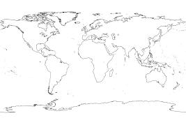 Black White World Map Julie World Map Outline Map Blank World Map