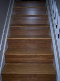 image of bamboo flooring installation for staircase