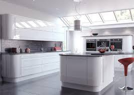 High Gloss White Kitchen White High Gloss Slab Style Kitchens