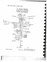 1956 bsa c11g wiring diagram britbike forum on second thought i have written the colours on the second version i will send it as well