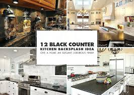 backsplash for black granite countertops black ideas kitchen tile backsplash black granite countertop