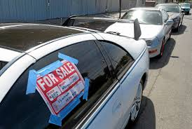 For Sale Sign On Car Stopping Used Car Sales On Arleta Streets Daily News