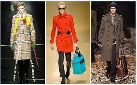 the burberry trench is revisited by christopher bailey left to right fall winter