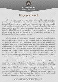 check our biography writing example check our biography writing sample