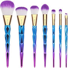 colorful makeup brushes. emaxdesign makeup brushes 7 pieces colorful diamond patterned shaped handle brush set professional foundation blending l