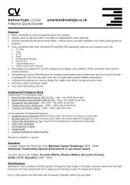 Live Sound Engineer Sample Resume Resume Cv Cover Letter