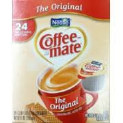 1tsp or 2g of this creamer contains 10 calories in total. Coffee Mate Creamer Original Single Serve Calories Nutrition Analysis More Fooducate
