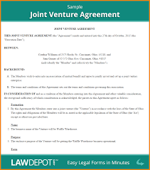 Free Joint Venture Agreement 24 Joint Venture Agreement Memo Templates 3