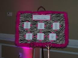 Seating Chart For A Sweet 16 Birthday Party Hot Pink And