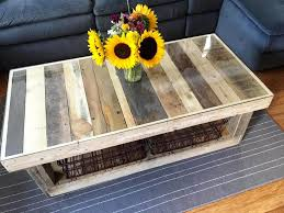 custom pallet coffee table with glass