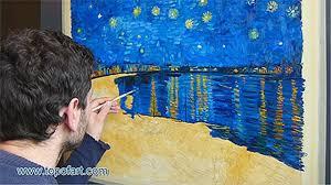 oil on canvas fine art reion van gogh starry night over the rhone on vimeo