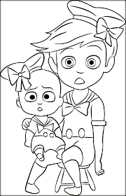Boss Baby Coloring Pages For Kids Color Zini