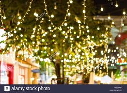 Easy Way Hang Christmas Lights Outdoor Blur Bokeh Decorative Outdoor String Lights Hanging On