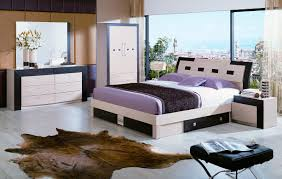 bed room furniture design. Animal Skin Rug Decorating Comfy Bedroom Using Modern Furniture With Unique Bed And Wardrobe Cabinet Room Design T