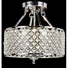 edvivi esg802ch marya 4 light drum semi flush mount crystal for chandelier inspirations 14
