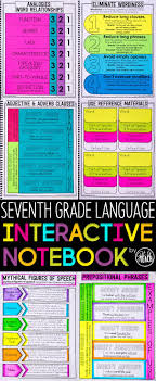best th grade reading ideas th grade reading  7th grade language interactive notebook grammar interactive notebook