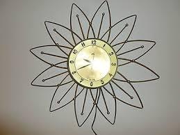 vintage mid century atomic sunburst