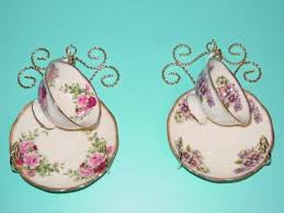 Cup And Saucer Display Stand Teacup Display Rack for a Single Teacup Wall Mount Set of 100 56