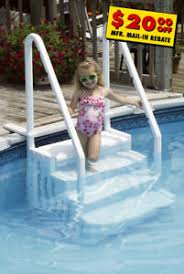 NEW HIGH QUALITY LARGE ABOVE GROUND POOL STEPS STRONG STURDY SEAT