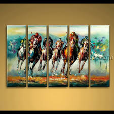 horse original oil impasto painting