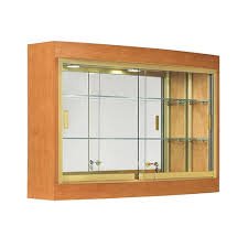 hanging display cabinet cherry w gold frame