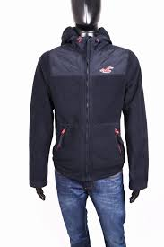 Hollister Jacket Size Chart Details About Hollister Mens Polar Jacket Hood Black Size M