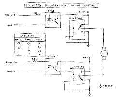 bidirectional motor control if things are still not working you have to opto isolate the circuit two spdt relays and two 4n33 isolators you can construct an isolated