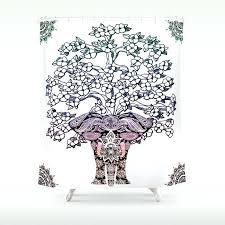 tree of life shower curtain elephant tree of life shower curtain dotz tree of life shower