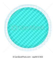 Indoor round swimming pool for spot and family flat vector