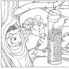Small Picture Winter Scene Coloring Pages glumme