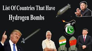 Image result for seven countries had hydrogen bombs.