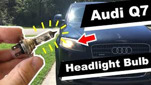 How To Change <b>Audi Q7 Headlight</b> Bulb Replacement 2007 ...