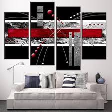 red black gray wall art