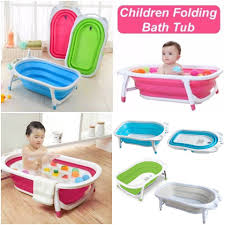 folding baby bath tub for infant bathing multicolor india best offers and deal