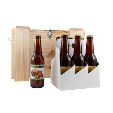 personalised 4 x 6 packs in a hand made wooden box