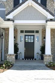 white single front doors. Front Door Design Black With White Sidelights And Transom Craftsman Single Doors V