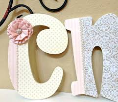 wooden letters for nursery custom baby girl decor personalized wall hanging diy wooden letters