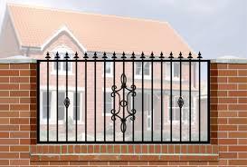 wrought iron fence brick. Image Of: Wrought Iron Fence Panels Wickes Brick S