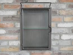 kolt vintage metal glass wall cabinet