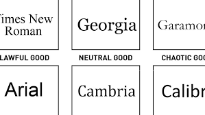 Alignment Chart 5e Funny Font Chart Separates The Good From The Evil Creative