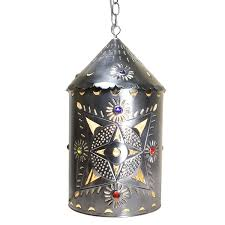 toluca lantern w marbles natural finish