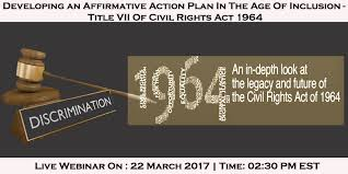 "Webinar On ""affirmative Action Plan - Title Vii Of Civil Rights Act ..."